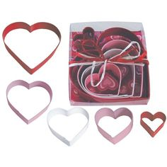 Hearts Nested Poly Resin Coated Tin Cookie Cutter 5 Pc Set L1897 ** Details can be found by clicking on the image.