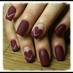 We have chosen Valentine`s day nails and are ready to share the ideas with you. New heart nail designs, cute red and pink nails - February, we love you! Gorgeous Nails, Love Nails, Pretty Nails, Fun Nails, Perfect Nails, Trendy Nail Art, Cool Nail Art, Trendy Hair, Nagel Stamping