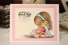 Daydreaming to Create, A Random Fan 'Caught Love', Prismacolor Pencils, Trimcraft 'Floral Pavillion', card