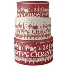 Christmas Town Storage Tins from Emma Bridgewater
