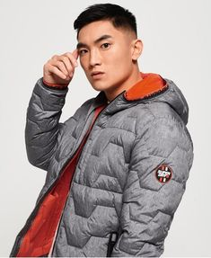 Shop Superdry Mens Hex Quilted Jacket in Grey Marl. Buy now with free delivery from the Official Superdry Store. Mens Down Jacket, Mens Fashion Blazer, Superdry Mens, Man Set, The Right Man, Mens Essentials, Winter Jackets, Men's Jackets, Lightweight Jacket