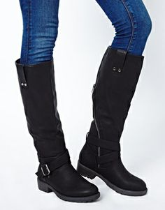 Image 3 of New Look Break Long Biker Boots