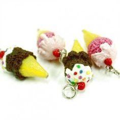polymer clay charms food   Cute Polymer Clay Charms   Polymer Clay Beads Miniature Foods Charms ...