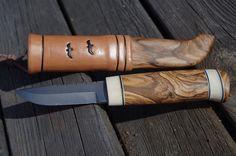 Handgjord kniv, jaktkniv, brukskniv, fiskekniv, hantverk, hög kvalite'