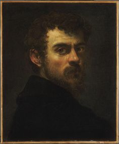 Tintoretto, Self-portrait, 1546. Tintoretto (1518–1594) was an Italian painter and a notable exponent of the Renaissance school. For his phenomenal energy in painting he was termed Il Furioso. His work is characterized by its muscular figures, dramatic gestures, and bold use of perspective in the Mannerist style, while maintaining color and light typical of the Venetian School. [Wikipedia]