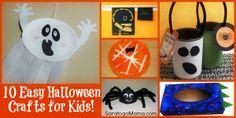 10 Super Easy Halloween Crafts for Kids