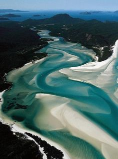 I've walked n sailed this area, it just survives in its natural state as national/state park, 400 sqaure mile marine park with 70 islands, but the human activity/traffic is killing it, will be ruined in another generation. Whitehaven Beach, Whitsunday Passage, Australia