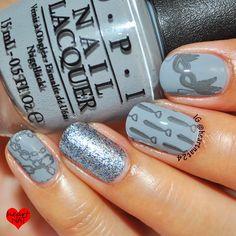 Fifty Shades of Grey Inspired Nail Art