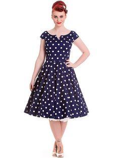 15ba30981a6389 HELL BUNNY Antoinette, navy Retro Kleid. Flaming Star · Rockabilly Dresses  / Kleider