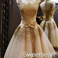 Amazing champagne Lace Short Prom Dresses, Homecoming Dresses, Bridesmaid Dresses