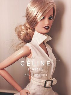 Spring 2014 Campaign for Celine - go for the red lips against crisp white fresh look this season!