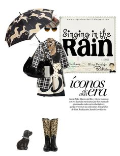 """Singin' in the rain"" by pensivepeacock ❤ liked on Polyvore featuring Laurence Leleux, Farhi by Nicole Farhi, Sonia by Sonia Rykiel, Marni, Judith Leiber, Hunter, Chanel and Barneys New York"