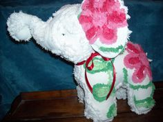 Elephant stuffed animal made from Vintage Chenille bedspread My Sewing Room, Sewing For Kids, Baby Sewing, Sew Baby, Chenille Bedspread, Chenille Fabric, Vintage Fabrics, Vintage Linen, Sewing Crafts