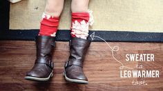 DIY Baby Leggings : DIY leg warmer