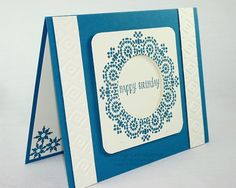 Moroccan Nights Stampin' Up!  Punch out the center to make a wreath.  www.beebugcreations.com