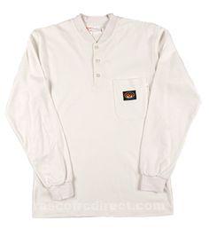 Rasco Flame Resistant Henley T-Shirt oz - White Collar And Cuff, 1 Oz, Work Wear, Man Shop, Tees, Cotton, Mens Tops, T Shirt, Jackets