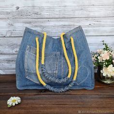 Denim Bag Patterns, Bag Patterns To Sew, Sewing Patterns, Sewing Projects For Beginners, Sewing Tutorials, How To Make Jeans, Only Jeans, Denim Crafts, Recycled Denim