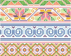 Mexicanos Folkloricos Mexican Cross Stitch by blackphoebedesigns