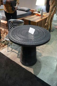 table from recycled tires