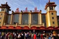 Transsibirische Eisenbahn: Zentralbahnhof Peking.