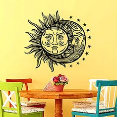 Wall Decals Sun Moon Crescent Dual Ethnic Stars Night Symbol Sunshine Wall Vinyl Decal Stickers Bedroom Best_WallDecals_For_You http://www.amazon.com/dp/B00WGOP3DC/ref=cm_sw_r_pi_dp_yqKewb18AVMR3