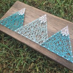 Made to Order: Mountains String Art by EloquentDecor on Etsy More