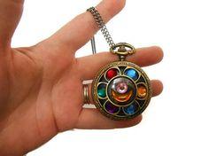 Sailor Moon Locket Vintage Brass Pocket watch by KingsfieldInn