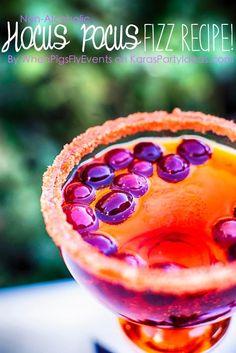 Hocus Pocus Halloween Fizz Drink Non Alcholic Recipe