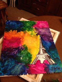 Paris Crayon art!