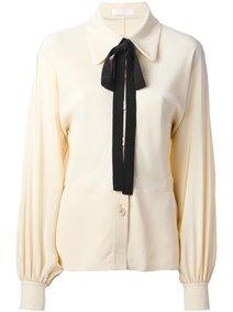 CHLOE' Bow detail shirt :) check out my blog handlethisstyle.com
