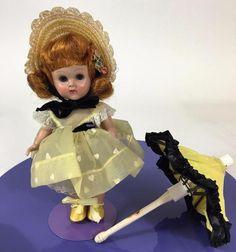 Beautiful all original Vogue Ginny doll, ready for your collection! Vtg Doll Bon Bons 1955 #83 MLSLW Auburn Redhead Beauty Umbrella…