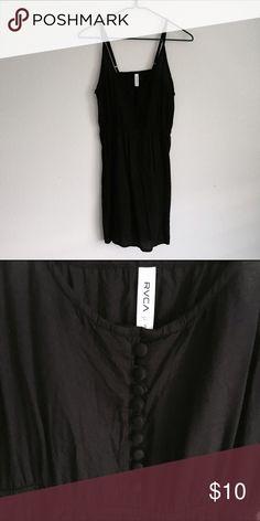RVCA Black Button Up Dress RVCA Black Button Up Dress. Size small. In good condition, no flaws. RVCA Dresses Mini