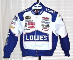 Chase Authentics Kids Lowes Jimmie Johnson NASCAR Snap Front Lined Jacket XS  #ChaseAuthentics #SnapFrontLinedJacket