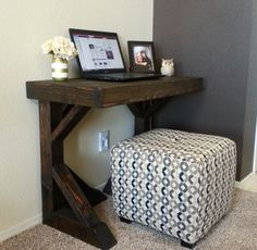 MINI TRESTLE TABLE by RYOBI Nation member SOCRAFTYSEWCREATIVE!!! Great for small spaces