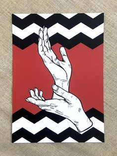 Black Lodge Laura Palmer Print // Twin Peaks Painting //