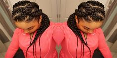 Hairstyles for Black Women with Criss Cross Goddess Braids