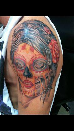 Day of the dead girl tattoo - Nephtali Brugueras jr