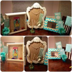 Origami owl set up. First party. Origami Owl Display, Vendor Table, Vendor Events, Origami Owl Jewelry, Dangles, Bar, Frame, Layouts, Home Decor
