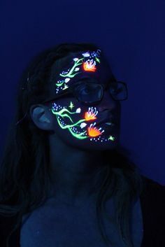 Glow in the dark face paint is perfect for parties!