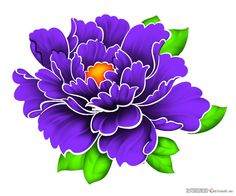 Japanese Flower Tattoo, Japanese Tattoo Designs, Japanese Flowers, Flower Tattoo Designs, Flower Tattoos, Flower Outline, Flower Art, Fabric Paint Designs, Peonies Tattoo