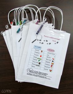 Nature Walk & Scavenger Hunt Bags w/PDF