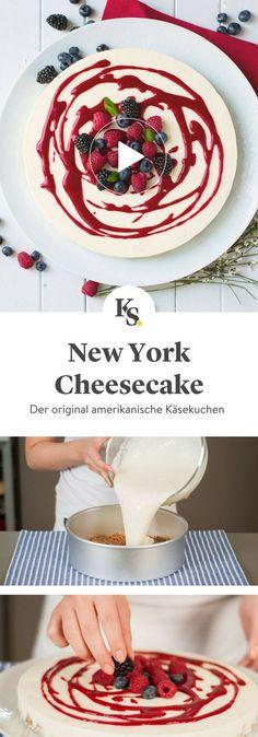 #käsekuchen #cheesecake #newyorkcheesecake Das Rezept für den original amerikanischen New York Cheesecake mit fluffiger Frischkäse-Creme und knusprigem Keksboden. Das Video zeigt dir Schritt für Schritt, wie er gebacken wird.