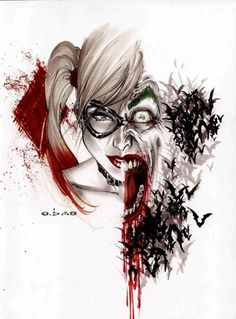 Harley Quinn and The Joker by Eric Basaldua