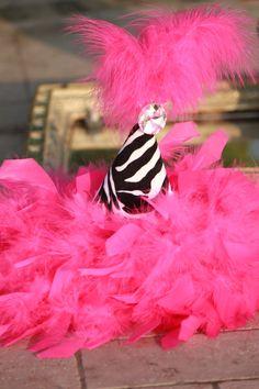 Valentine's Party - Zebra Party Hat with Swarovski Rhinestone :: by Posh Peanut Kids #Zebra