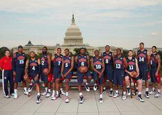 Gold Medal winning USA Men's Olympic Basketball Team.