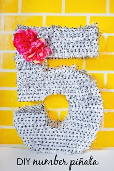 DIY Number Piñata {with tutorial} - perfect idea for any kids birthday party!