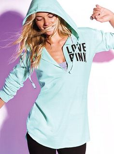 Tunic Hoodie - Victoria's Secret PINK - Victoria's Secret I want thisssss... hoodies and tunics - two of my loves!