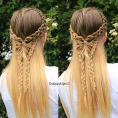 Day 13: Lace , a heart lace  parting with a lace butterfly inspired  by a Pinterest photo :) #30DaysNewBraids ~~~~~~~~~~~~~~~~~~~~~~~~~~~~~ #lacebraid #braid #lacebraid #frenchbraid #dutchbraid #blonde #hairstyles #instabraid #hairsandstyles #fashion #hairtutorial #flette #summer #boho #happy #heart #corazón  #selfie #Irish