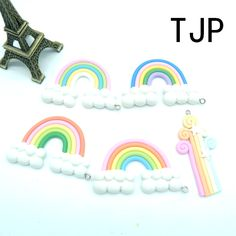 Cheap Charms, Buy Directly from China Suppliers:Kawaii Rainbow Charms Pendants for DIY  decoration neckalce earring key chain Jewelry Making