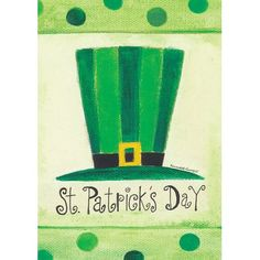 Toland Home Garden St Pat's Hat Garden flag St Paddys Day, St Patricks Day, Sant Patrick, Flag Store, St Patrick's Day Crafts, Paint And Sip, St Pats, Flag Decor, House Flags